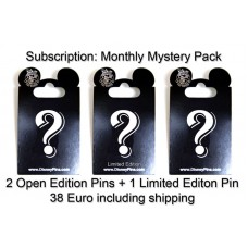 Monthly Subscription -  2 Open Editions + 1 Limited Edition Pin