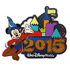 USA -  2015 Dated Logo Pin - Sorcerer Mickey