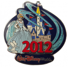 USA -  2012 Castle pin with Cinderella